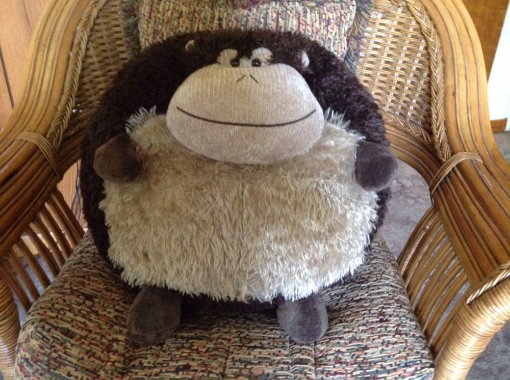 Rare Giant American Mills Monkey Plush Round Pillow Stuffed Animal Jumbo 45