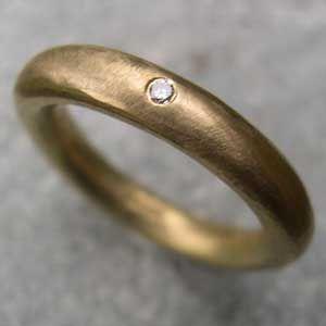 Handmade Engagement Rings Single Diamond Eternity Ring In 18ct Yellow Gold