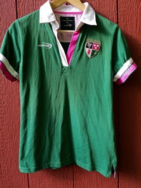 0078847bb Lansdowne Collection Ireland Rugby Green Pink Polo Shirt Irish Girls Sz 12  #Lansdowne #Everyday