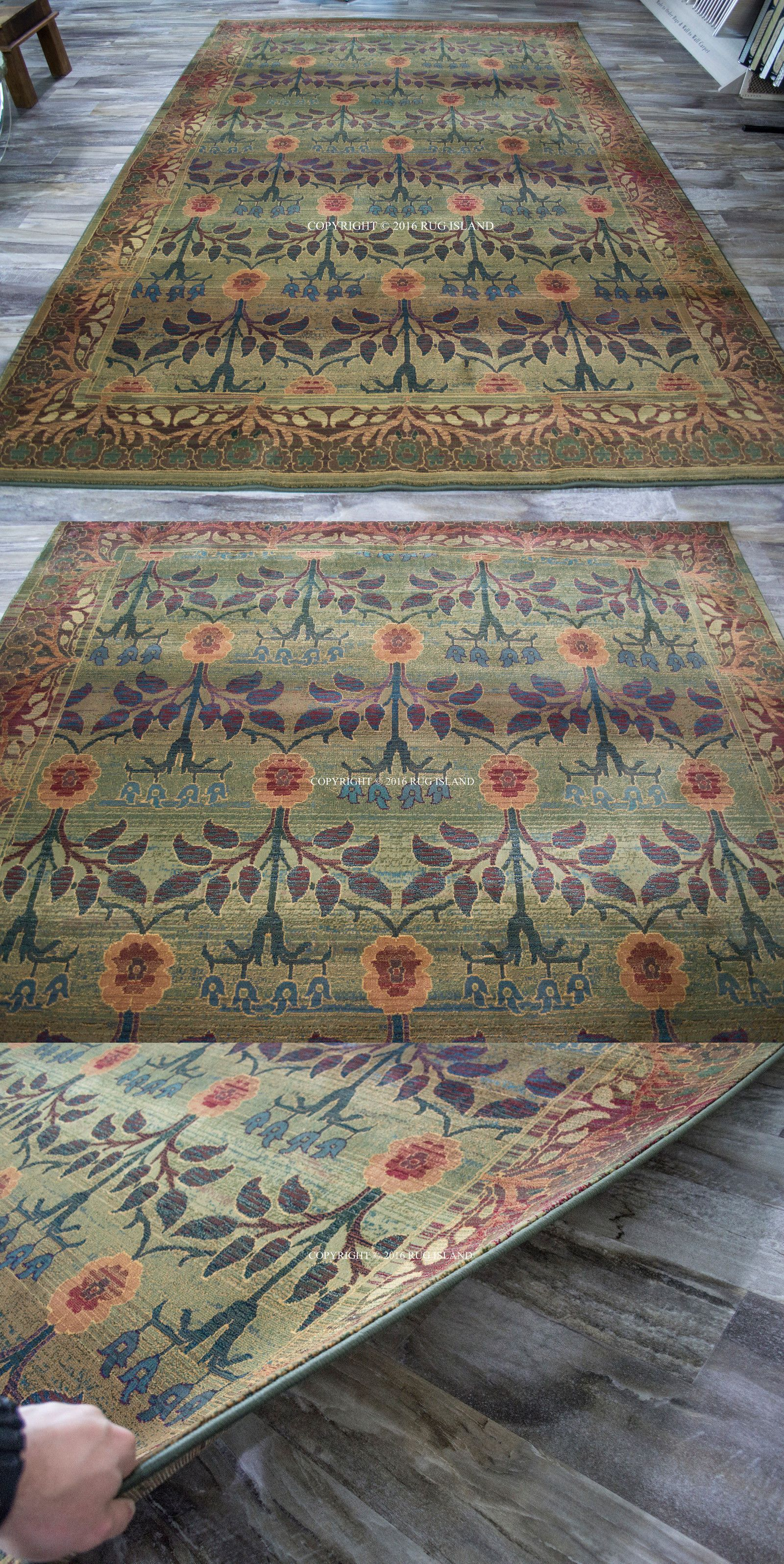 Details About William Morris Style Arts Crafts Area Rug