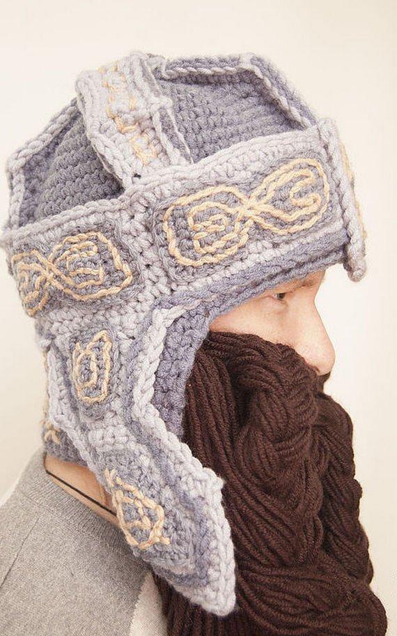 Gimli Dwarf crochet helmet, boyfriend gift, handmade dwarf hat ...