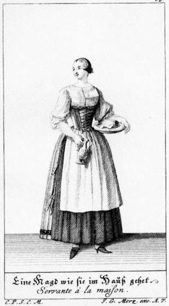 Costume of Augsburg, 1730  Maid at the House