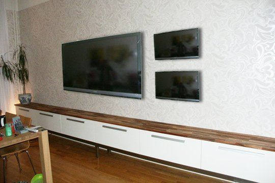 the extra-extra long ikea media console hack | consoles and