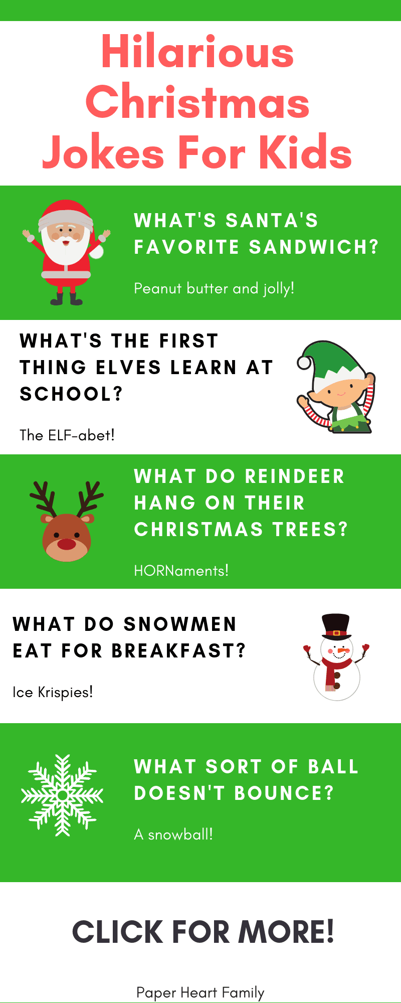 82 Christmas Jokes For Kids - | Kid Crafts and Activities ...