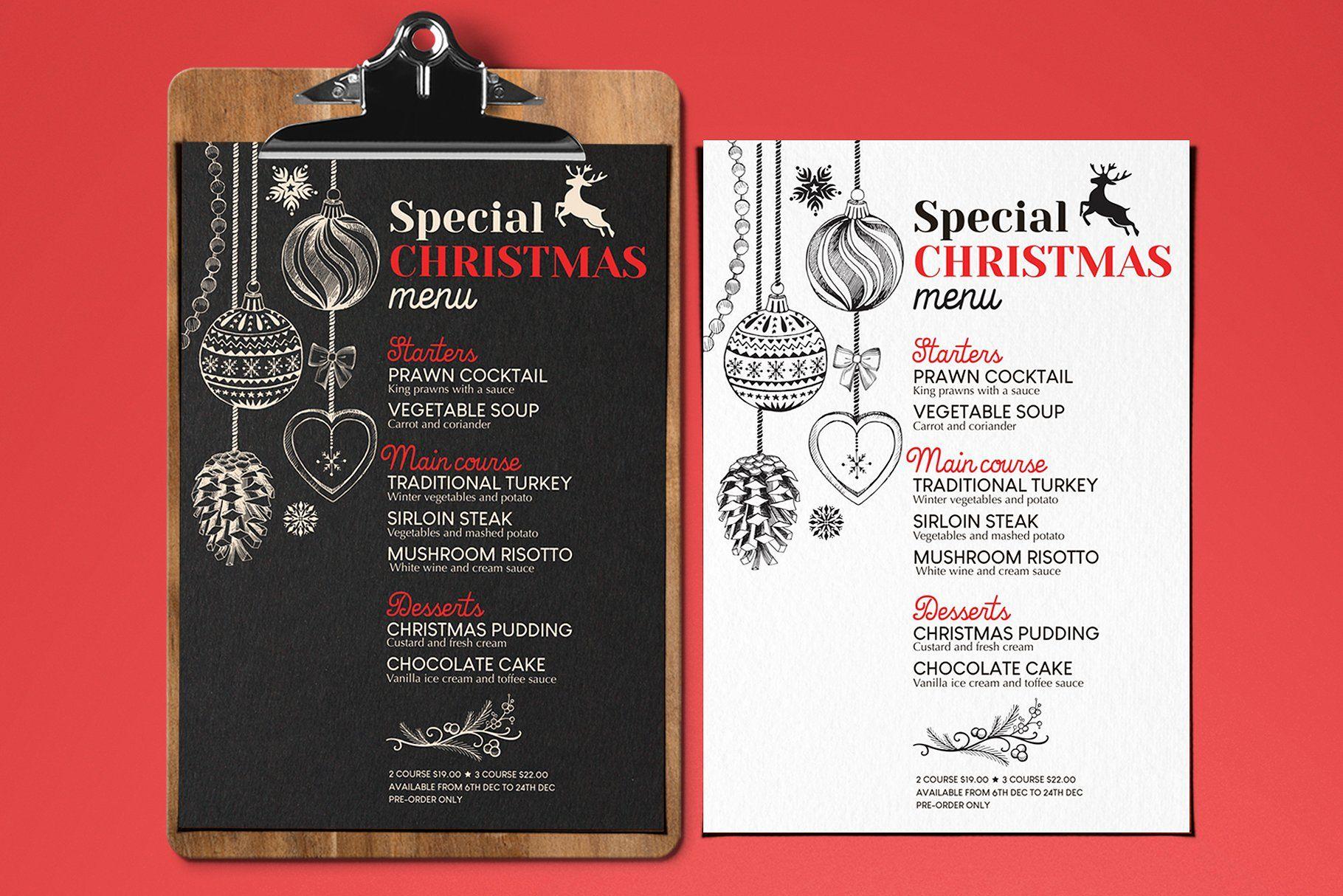 Christmas Dinner Restaurant Menu Inches Free Texts Fonts Christmas Party Menu Dinner Restaurants Menu Restaurant