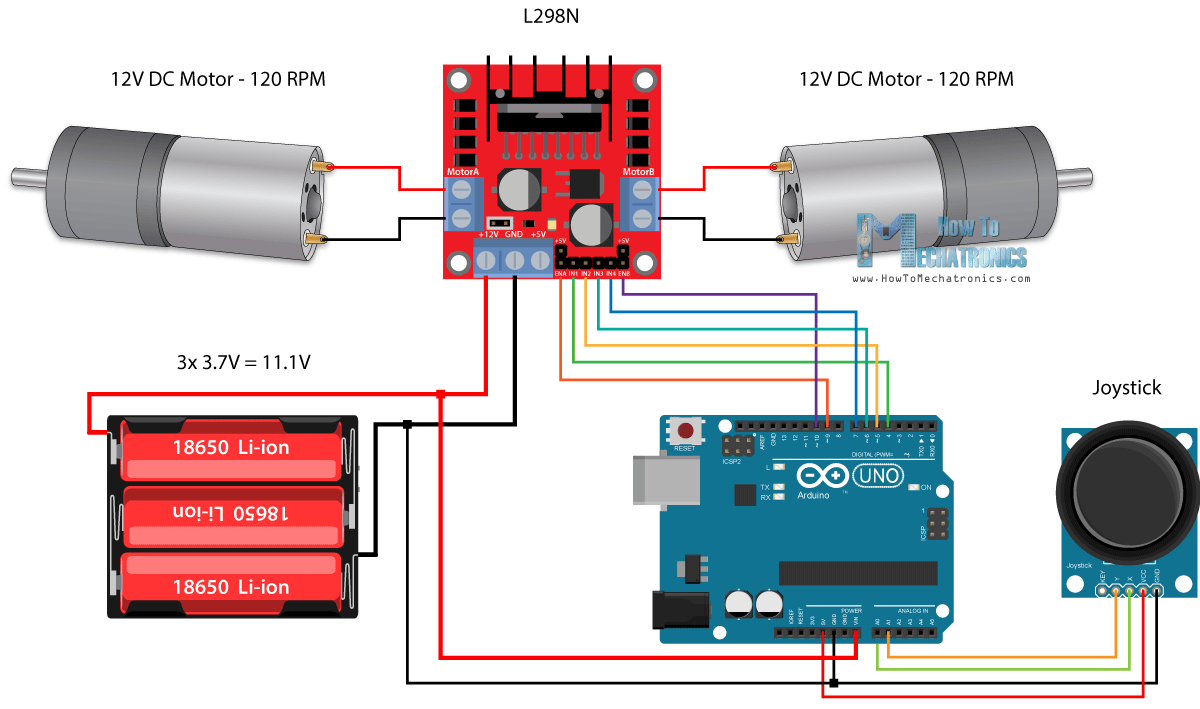 Arduino Robot Car Control Using L298n Driver Circuit Schematic On Pinterest Diagram And Projects