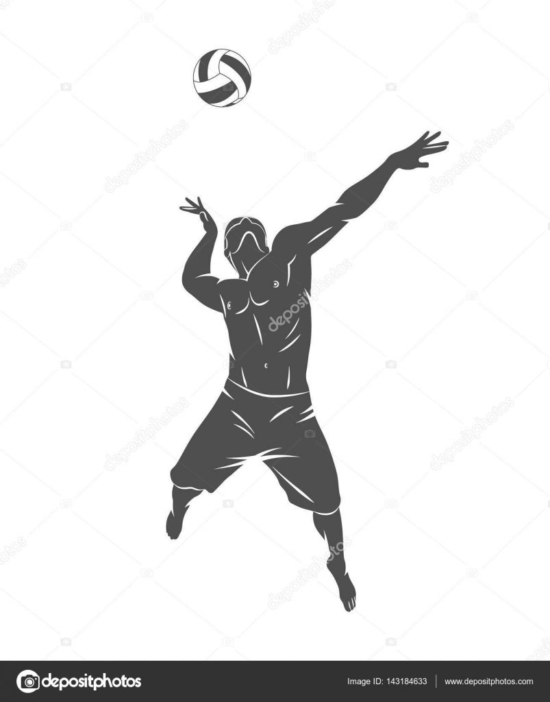 Descargar Jugador De Voleibol Resumen Ilustracion De Stock 143184633 Pallavolo Tatuaggi Line Art