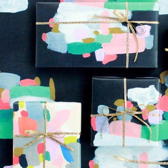 59 diy ideen wie man geschenkpapier f r weihnachten selbst gestalten kann weihnachten. Black Bedroom Furniture Sets. Home Design Ideas