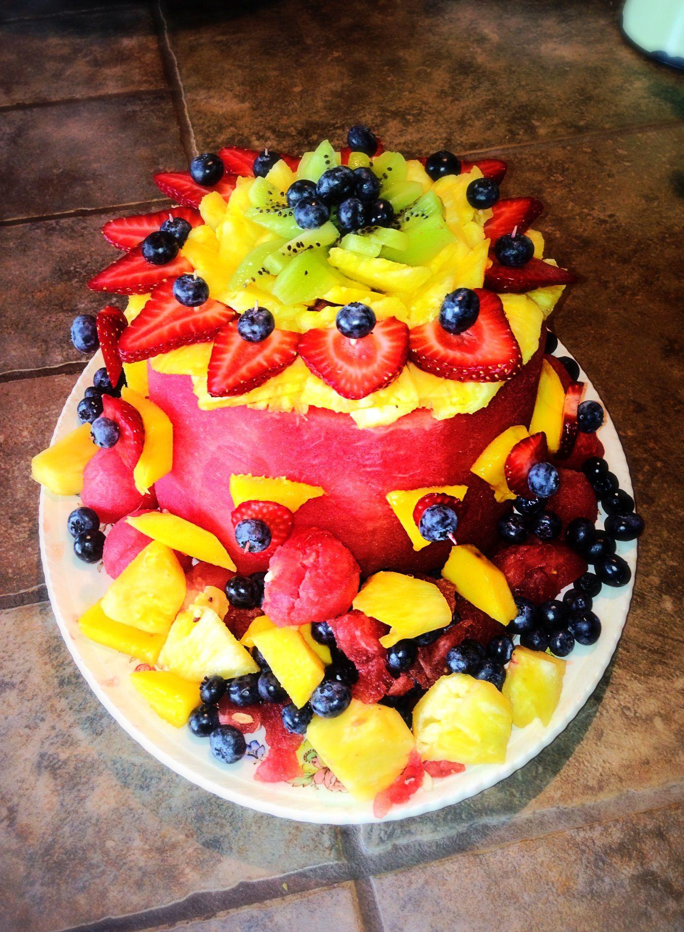 Birthday Cake Fruit Design
