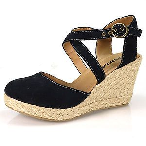4c5495f5fc8b Toe Black F Suede Espadrille Wrap Platform Wedge Sandal Close Toe Women  Shoes