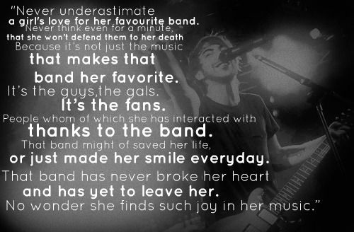 Alex Gaskarth (lead singer of All Time Low) quote Band