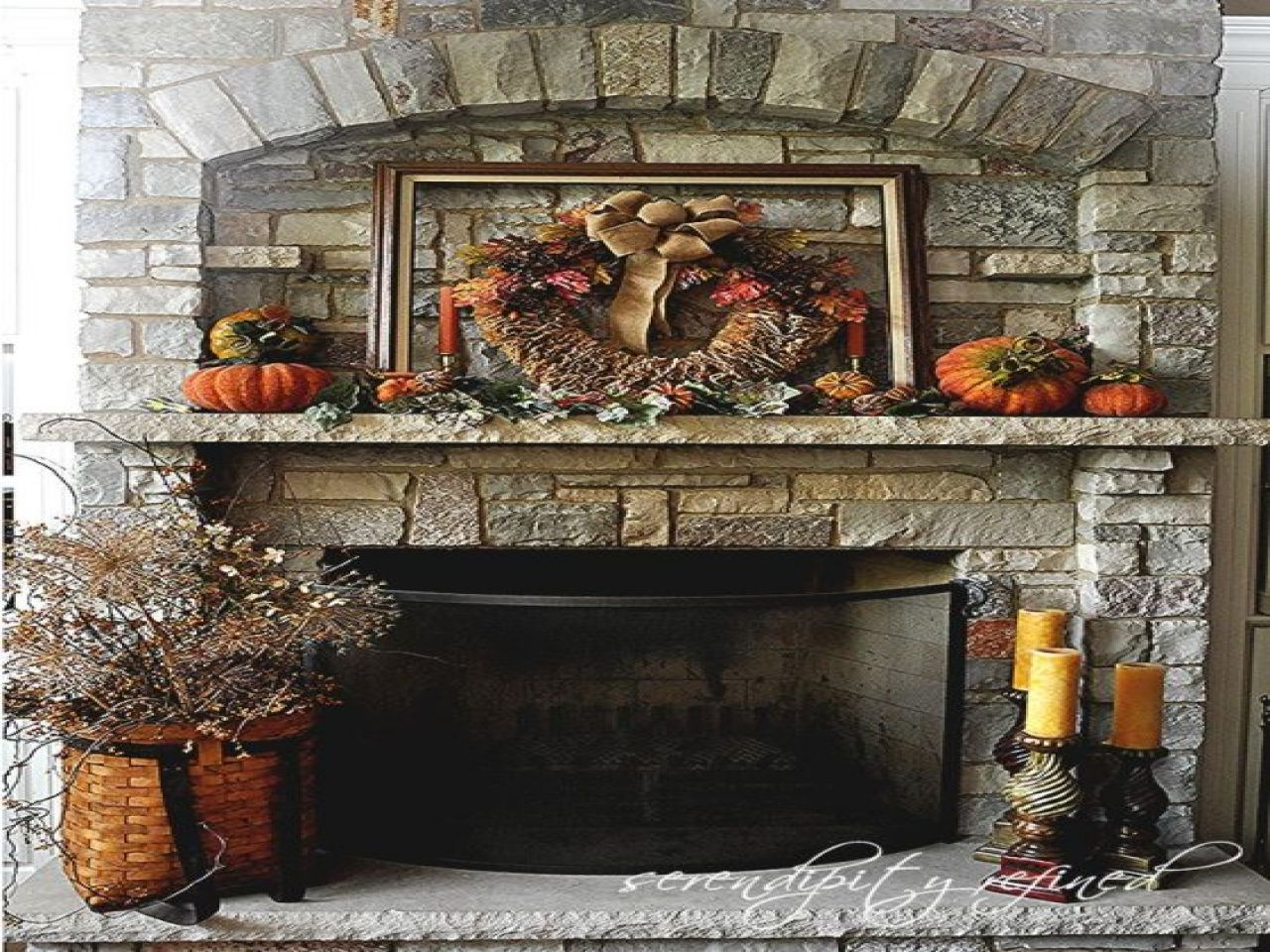 Thanksgiving Fireplace Decorations Pottery Barn Fall Mantel Diy