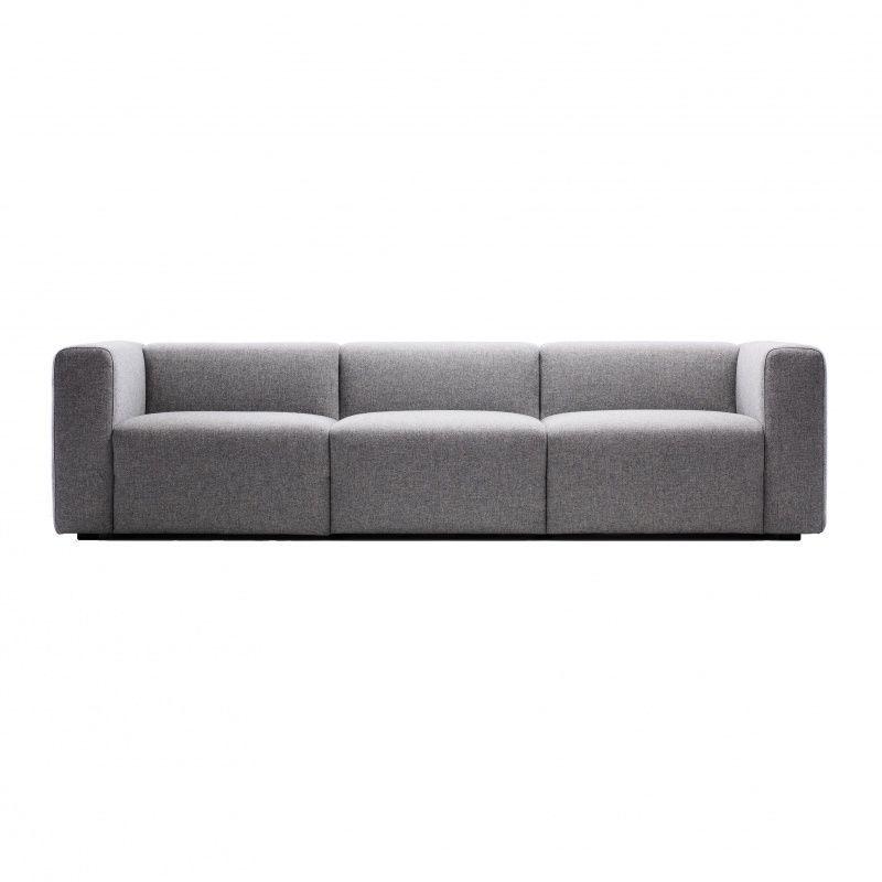 hay mags 3 sitzer sofa graustoff remix 1332685x95x67cm - Couch Grau Stoff