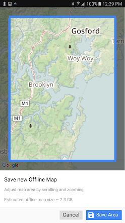 Screenshot Image Cb radio, Detailed map, Remote workers