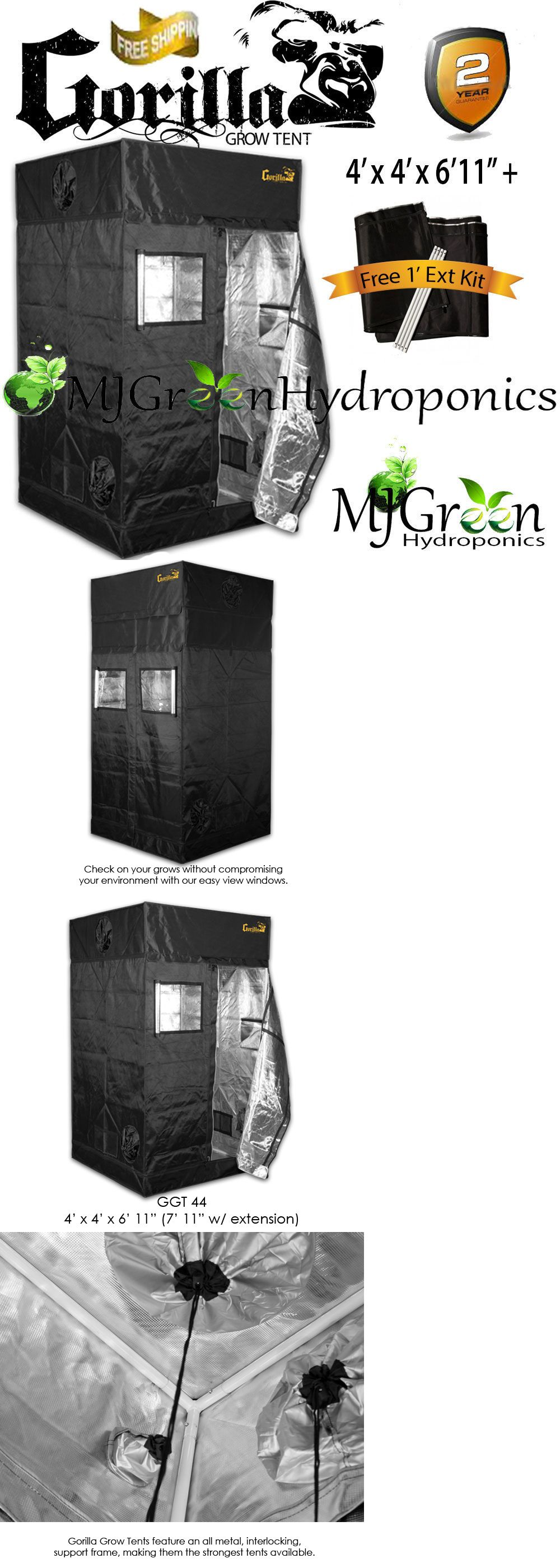 Tents Tarps and Shelves 178993 Gorilla Grow Tent Indoor Grow Tent 4 X 4 X  sc 1 st  Pinterest & Tents Tarps and Shelves 178993: Gorilla Grow Tent Indoor Grow Tent ...