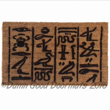 Egyptian Snake Curse doormat- keep they trickers at bay ...