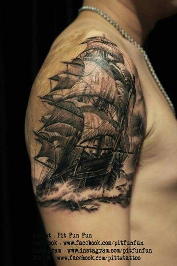Pin De Mitch Todd Em Ship Tattoos Caravela Tatuagem Tatoo