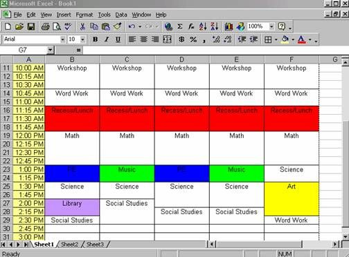 how to create a schedule in excel very easy speech therapy