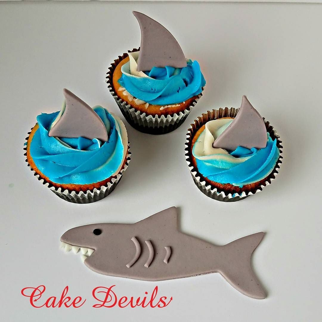 In honor of shark week! Just added to the Cake Devils Etsy Shop! . . CakeDevils