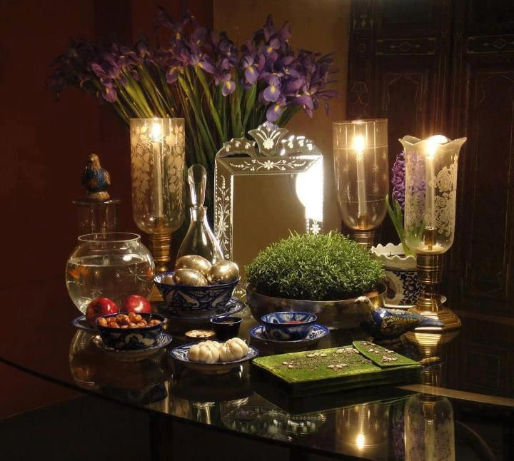 Display For The Norouz A Celebration Of Vernal Equinox Persian New Year Persians Prepare Haft Sin Or Table Seven Ss Symbolic