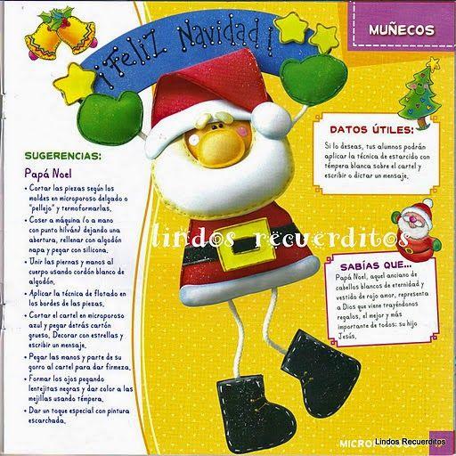 Blog de Santa clauss: Manualidades navideñas en microporoso