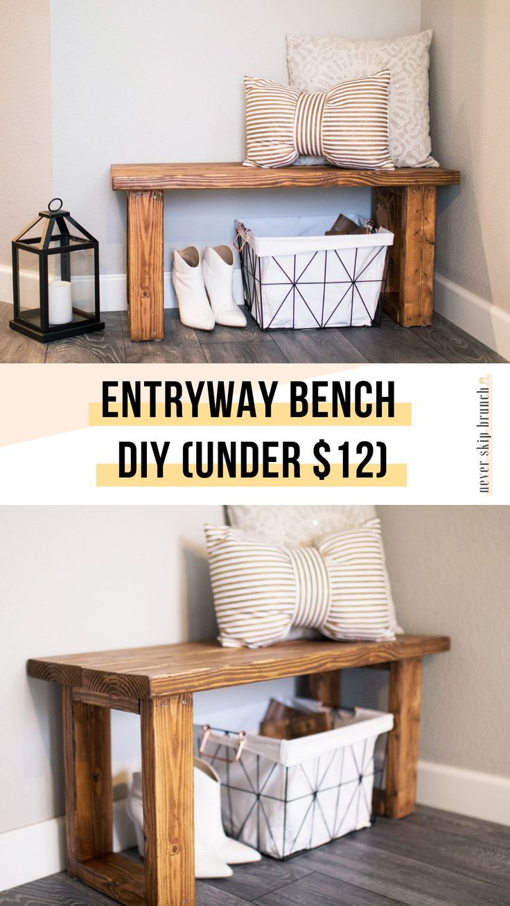 Photo of Make this gorgeous DIY Entryway Bench for under $12 » NEVER SKIP BRUNCH