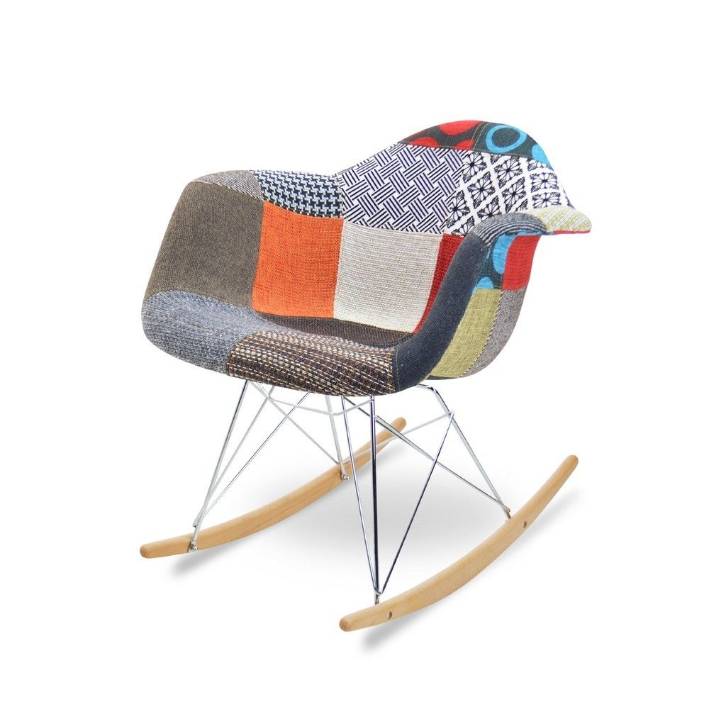 Magnificent Eames Rar Patchwork Edition Chairs Eames Rocking Chair Gmtry Best Dining Table And Chair Ideas Images Gmtryco