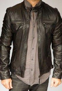 BLOUSON CUIR HOMME OAKWOOD CASEY Marron Cuir Agneau   Vêtements Cuir ... 3e1c8cb55dc0