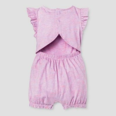 9804369e57e9 Baby Girls  Flamingo Open Back Romper - Baby Cat   Jack Pink 6-9 Months