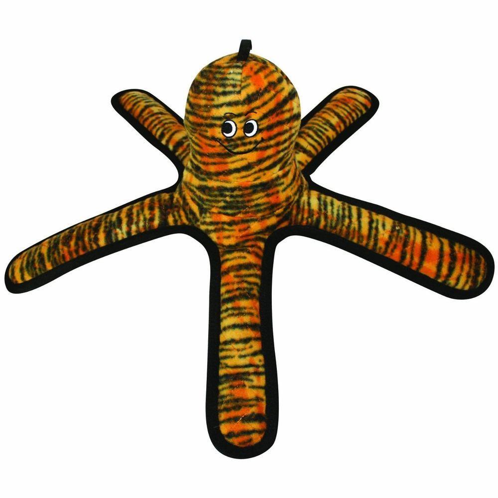 Tuffy Mega Creature Octopus Dog Toy Tiger Print Large Machine Washable Tuff 10