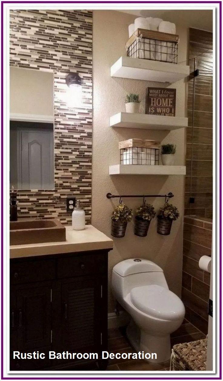 Rustic Bathroom Decoration Ideas In 2020 Small Bathroom Remodel Elegant Bathroom Guest Bathroom Decor