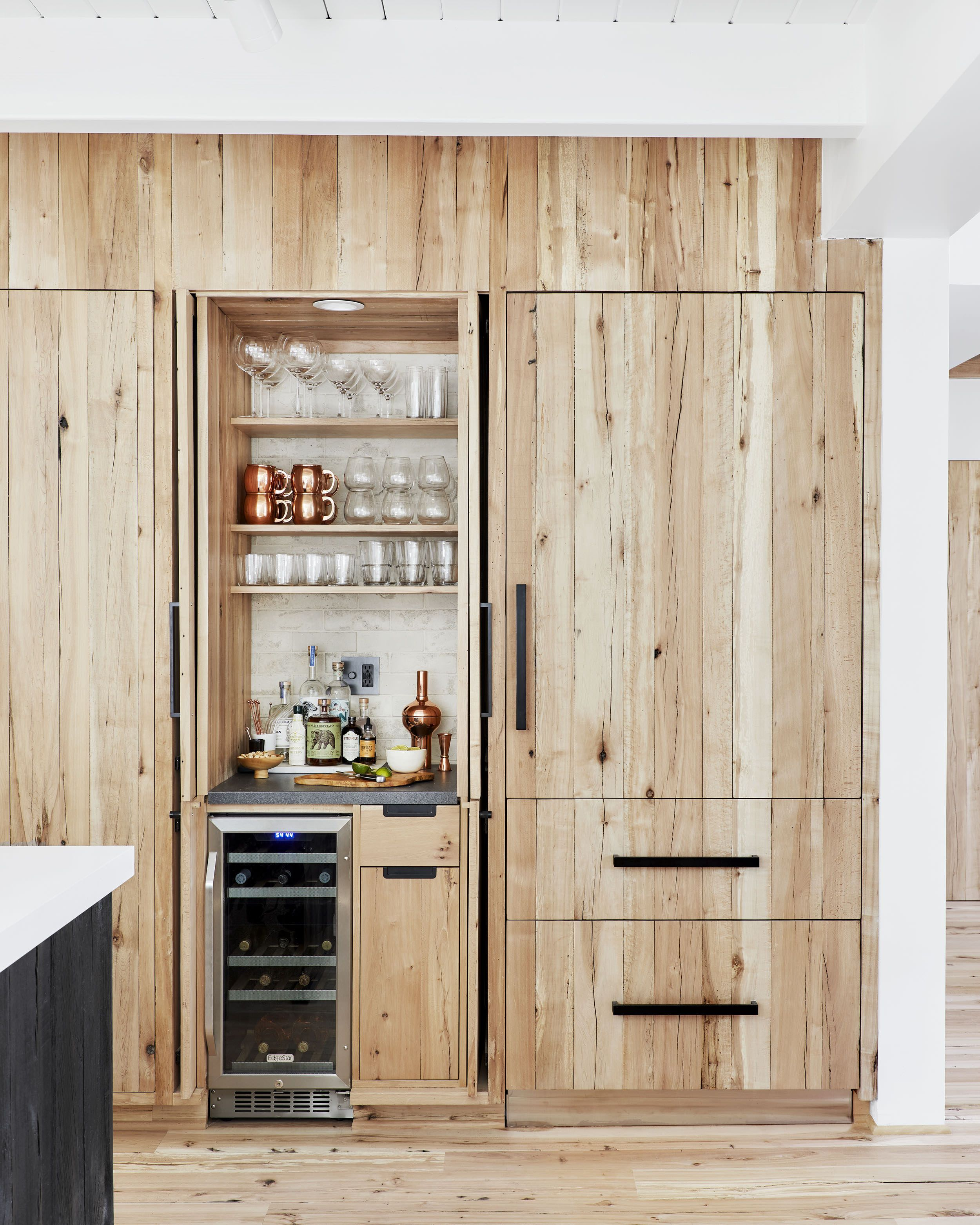 How We Organized All Our Drawers Cabinets In The Mountain House Kitchen Home Kitchens Kitchen Cabinet Design Freezer Organization