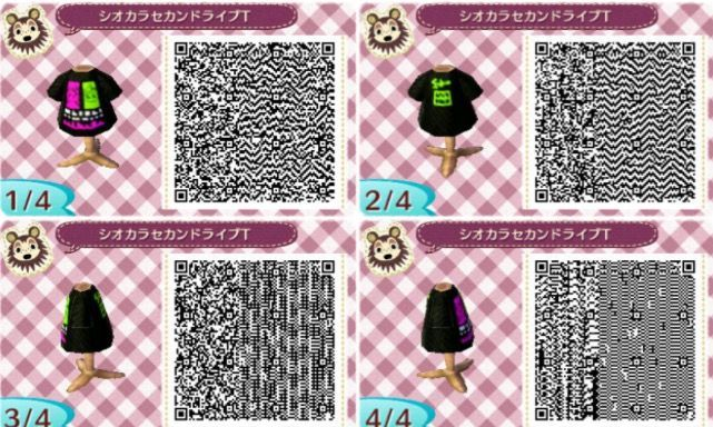 Splatoon shirt Acnl qr in 2020 (With images) Animal crossing