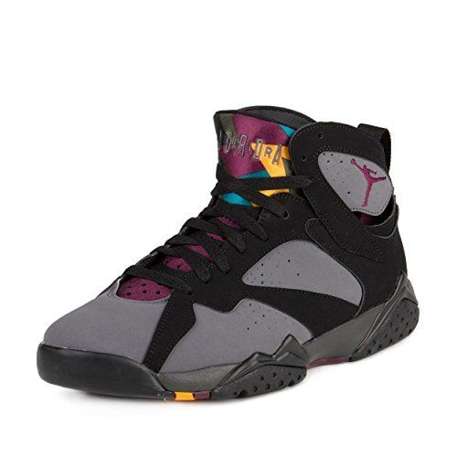 separation shoes 02170 47421 Jordan Nike Mens Air 7 Retro Bordeaux Black Bordeaux-Light Graphite Suede Size  12