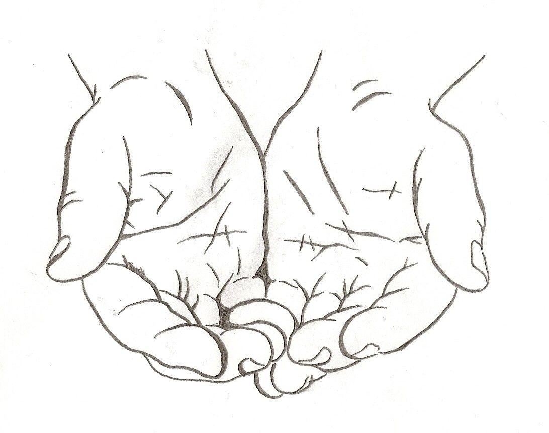 Tattooooo How To Draw Hands Drawings Hand Outline