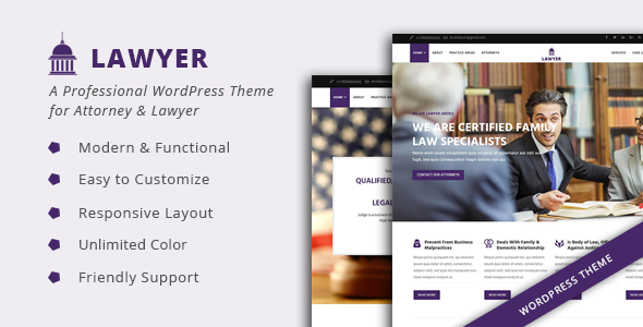 Review Download Lawyer A Professional Wordpress Theme For