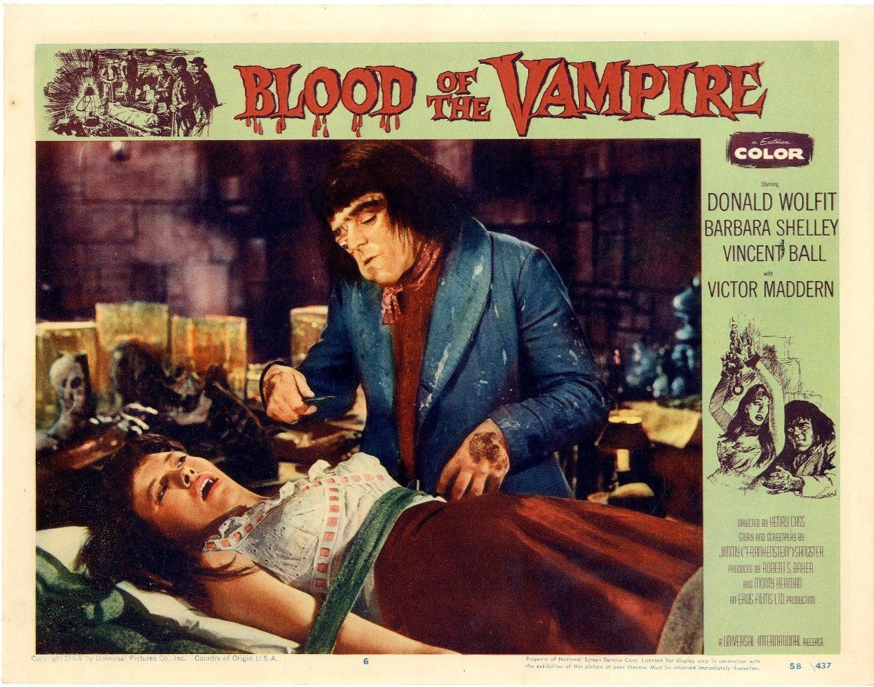 Directed By Henry Cass With Donald Wolfit Vincent Ball Barbara Shelley Victor Maddern A Man And Wife Are Terrorized By Ma G Man Classic Detective Vampire
