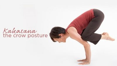 float into bakasana crow pose from downward dog using