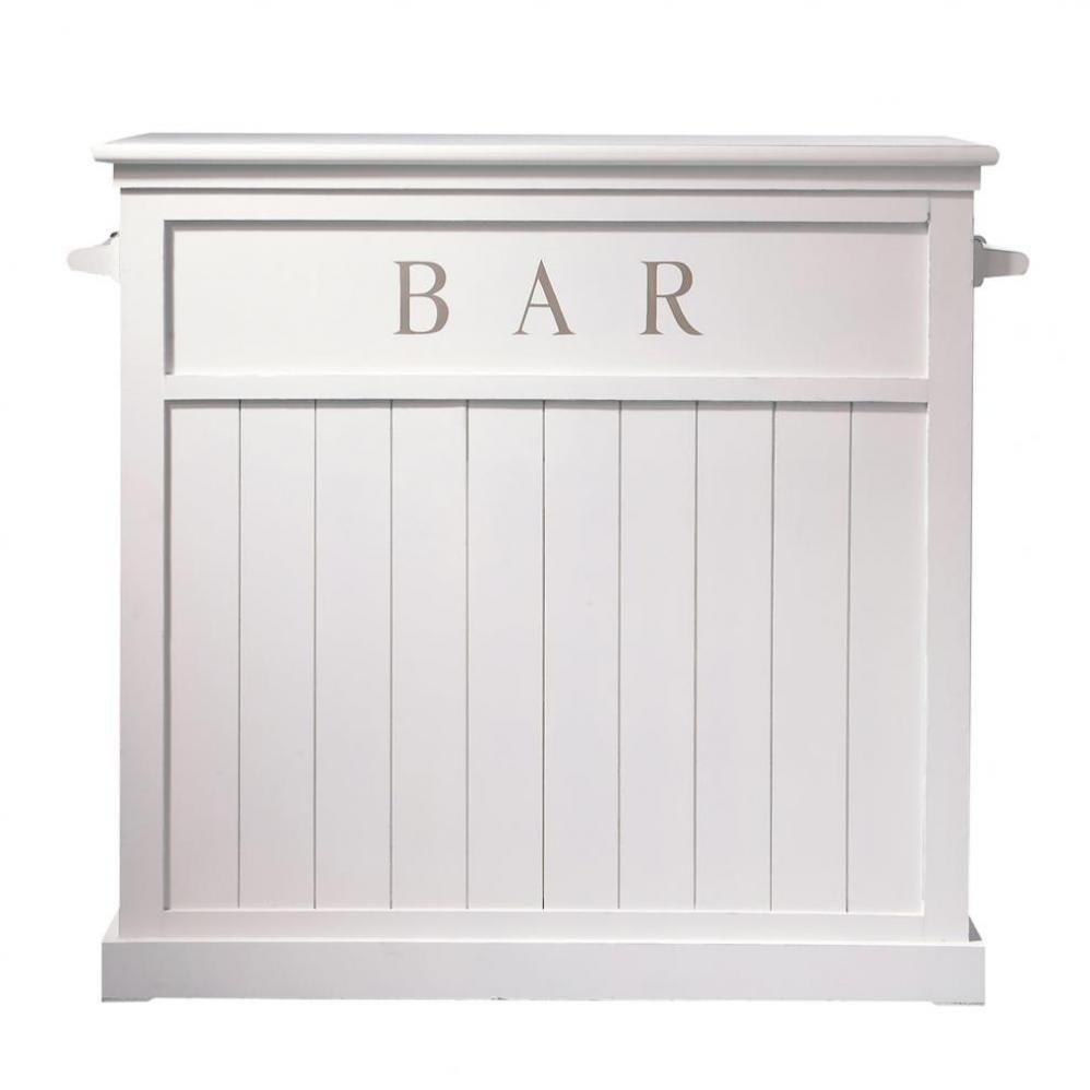 meuble de bar en pin blanc l 120 cm meuble de bar bar. Black Bedroom Furniture Sets. Home Design Ideas