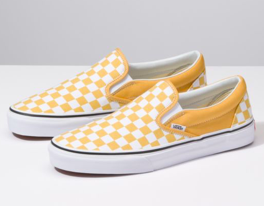 eabb89b415 Yellow checkered vans (as shown) Size 8