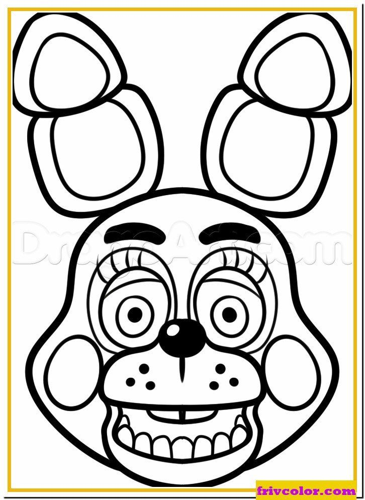 Five Nights At Freddy Coloring Pages Mangle Golden Freddy Face Fnaf Friv Free Coloring Pages Fnaf Coloring Pages Coloring Pages Five Nights At Freddy S