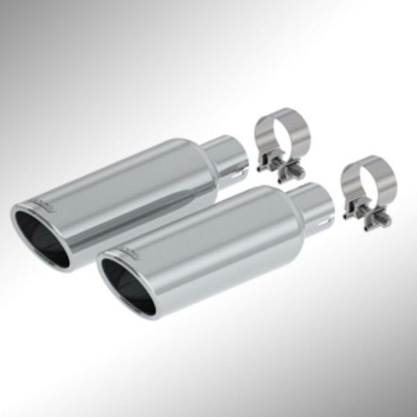 Escalade Exhaust Tips, Bright Chrome:Add A Sporty