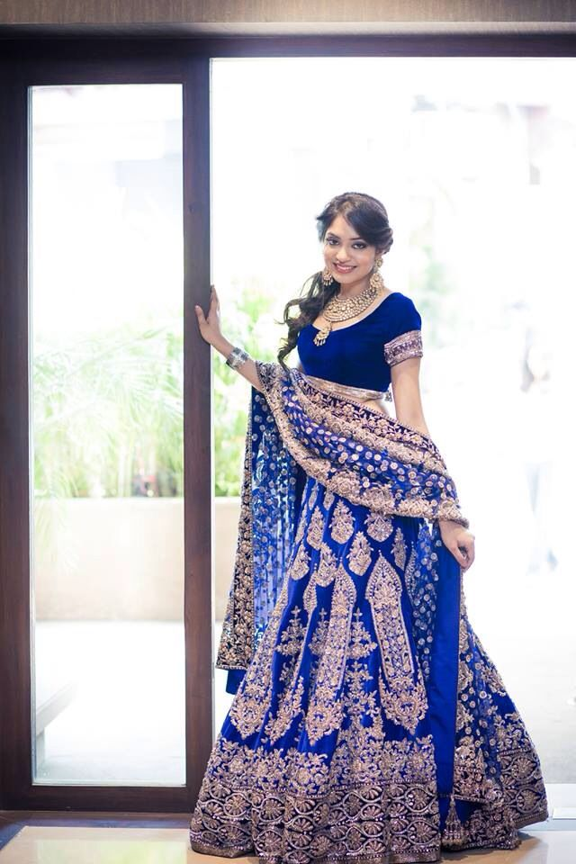 Gorgeous Blue Wedding Lehenga