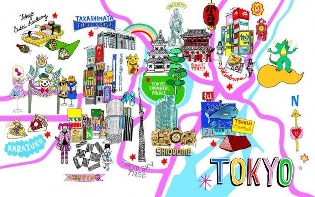 Resultado de imagen de tokyo map