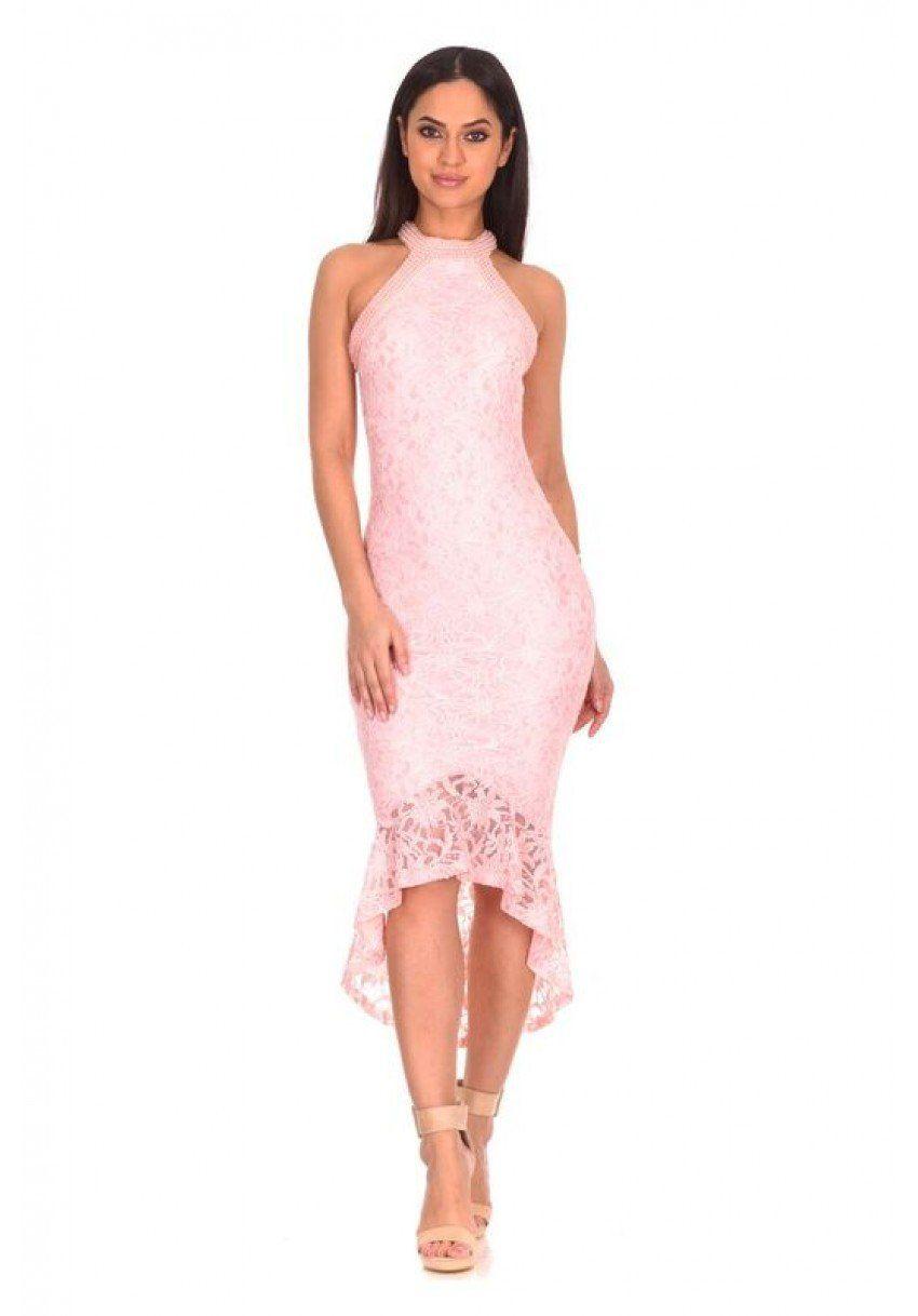 AX Paris Womens Choker Neck Lace Dress
