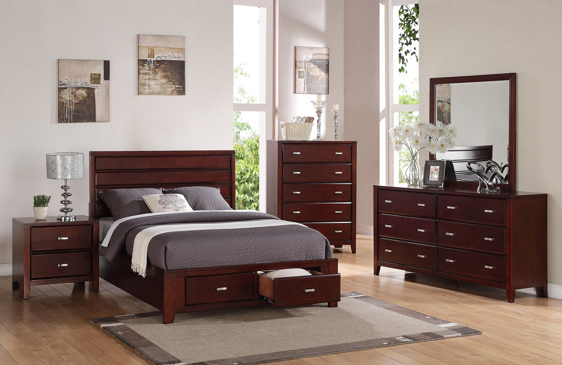 Alpine Furniture Carrington Storage Panel Bed & Reviews