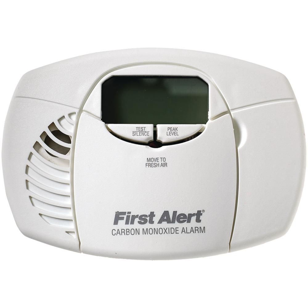 First Alert Battery Powered Carbon Monoxide Alarm Digital Display Burglar By