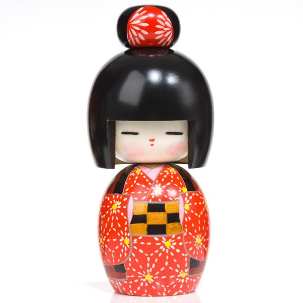 Snow Flower Girl Kokeshi Doll