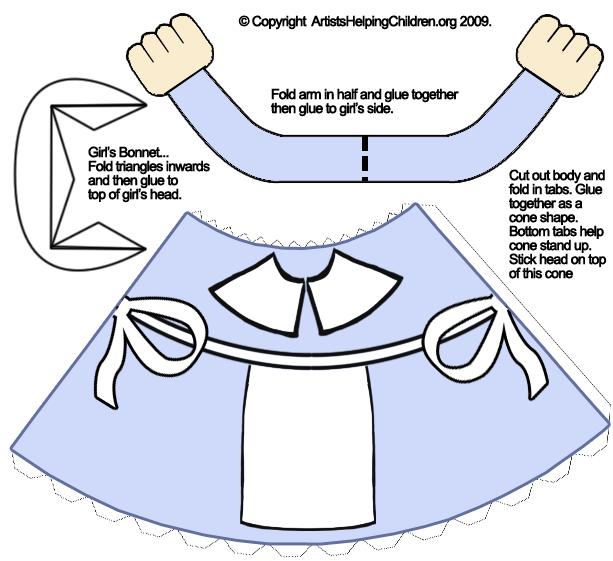 Pilgrim bonnet template pilgrimgirlpapercrafttoymodel patterns1 free printables pilgrim bonnet template pilgrimgirlpapercrafttoymodel pronofoot35fo Choice Image