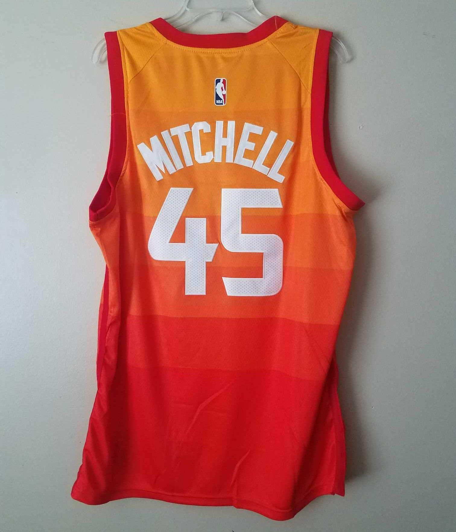 Men 45 Donovan Mitchell Jersey City edition Yellow Orange Utah Jazz  jersey   nRevo  NBAjersey  NBA  BasketballJersey  nRevoJersey 65447a49f